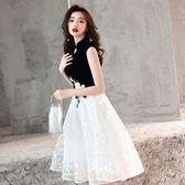 大碼洋裝 洋裝小禮服裙新款冬宴會中式主持人連衣裙名媛年會中長款顯瘦DF