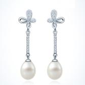 耳環 925純銀珍珠-流行百搭生日情人節禮物女飾品73dq45【時尚巴黎】