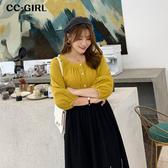 中大尺碼 方領排釦燈籠袖上衣~共兩色 - 適XL~4L《 69039 》CC-GIRL