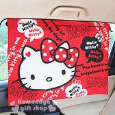 〔小禮堂〕Kitty 汽車遮陽簾《2入.紅.大臉.對話框》附4吸盤.輕鬆裝飾愛車 4713909-23342