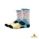 AREX SPORT 咖啡紗3D科技機能襪-藍色小星人AS-D003