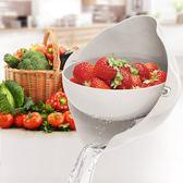 雙層淘菜洗菜盆瀝水神器籃子抖音塑料漏盆菜藍米家用廚房洗水果盤WY