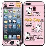 Hello Kitty彩繪貼 iPhone 5s 5 iPhone SE 螢幕保護貼+背蓋貼  (804)