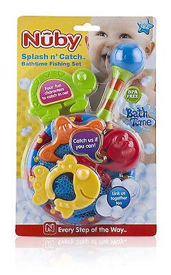 【美國代購 特價新品】原裝正品 Nuby Splash 'n Catch Bath Time Fishing Set洗澡玩具(小魚撈撈樂)