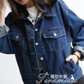 牛仔外套-牛仔外套女春秋新款2019韓版bf風學生寬鬆長袖夾克上衣 提拉米蘇