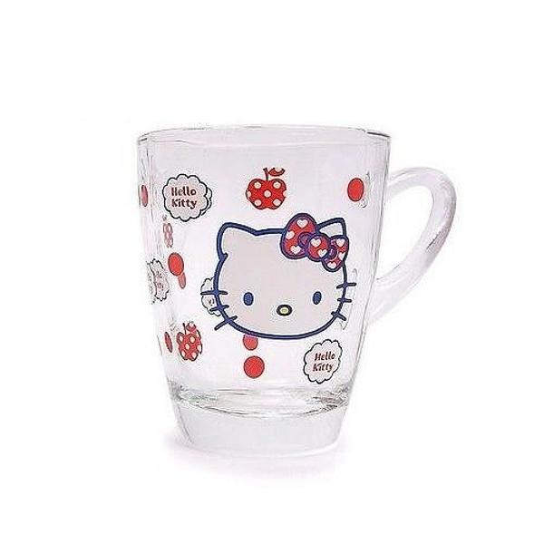 【震撼精品百貨】Hello Kitty 凱蒂貓~凱蒂貓 HELLO KITTY 單把玻璃杯