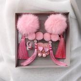 復古格格新年禮盒裝兒童髪飾流蘇髪卡