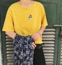 找到自己 MD 日系 時尚 潮 男 休閒 寬鬆 胸前卡通 小狗圖案 特色短T 短袖T恤 學生短T