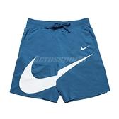 Nike 短褲 NSW Swoosh Shorts 藍 白 男款 膝上 籃球 訓練 運動 【ACS】 DJ5373-440