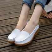 韓版時尚豆豆鞋防滑休閒鞋一腳蹬懶人鞋學生女鞋