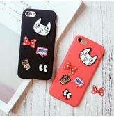 貓咪 iphone7 plus / iphone7/iphone 8/8plus/iPhone X手機套 手機殼 軟套