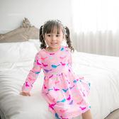 粉嫩多彩小鳥兒傘狀洋裝(220135)★水娃娃時尚童裝★