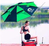 釣魚傘江南釣者2.2米萬向防雨2.4米加厚折疊遮陽防曬折疊垂釣雨傘 全館免運
