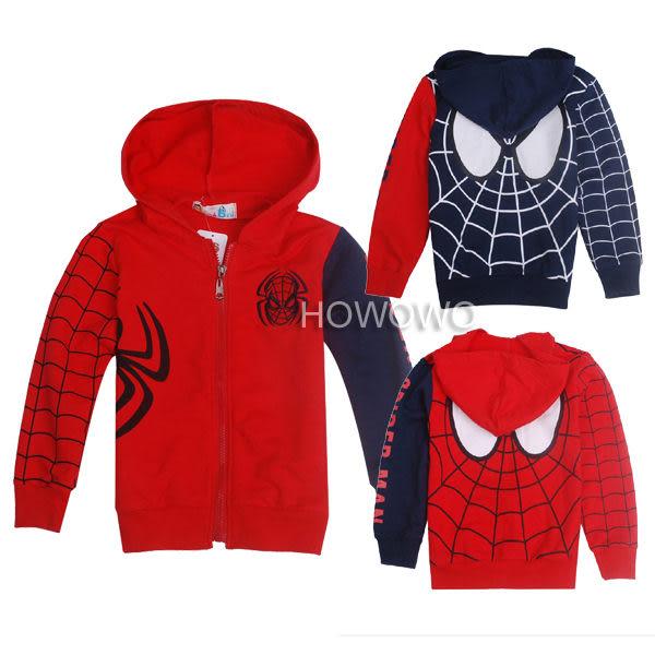 蜘蛛人兒童薄外套 中大童防曬連帽外套 棉質透氣童裝 SK016
