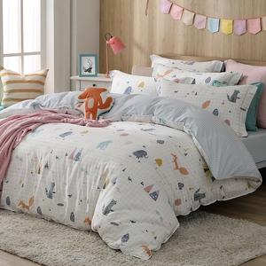【HOYACASA】寵世界加大四件式純棉兩用被床包組-天絲入棉30%
