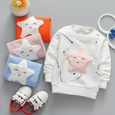 女寶寶春裝長袖t恤圓領打底衫春秋體恤1-2歲5-6-7個月嬰兒童裝潮Mandyc