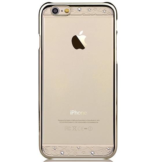 【鼎立資訊】Comma iPhone 6/6s 星空 水鑽 電鍍 外殼 (香檳金邊)