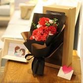 萬聖節狂歡 母親節歐式11朵禮盒玫瑰花香皂花肥皂花高檔禮物仿真假花束康乃馨