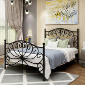 床架 歐式現代簡約鐵藝床單人宿舍鐵床環保1.8雙人成人公寓員工鐵架床igo 傾城小鋪