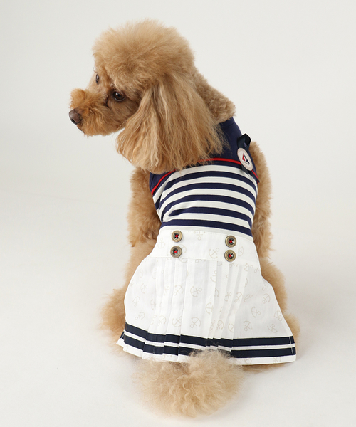 【PET PARADISE 寵物精品】Pretty Boutique 海軍風假二件洋裝 (3S/DSS) 寵物用品 寵物衣服《SALE》