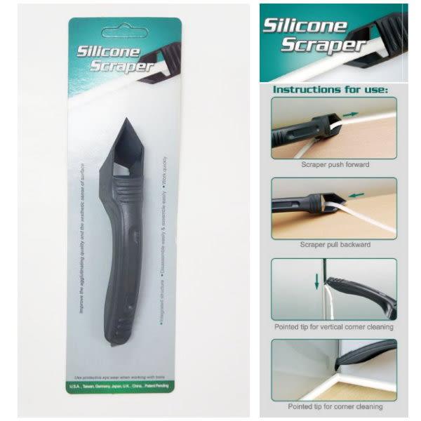 台灣製 ORIX pw114 專業矽利康刮除刀 邊刀+錐型刀 二合一工具 專業silicone 矽力康抹平刮刀工具