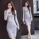 OL洋裝 春夏款名媛氣質性感蕾絲連身裙修身緊身包臀套裝裙OL夜店女裝OB5560『易購3c館』