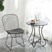 歐式鐵藝小圓桌沙發邊几現代休閒簡約陽台小茶几咖啡圓形免運茶几桌子迷你wy