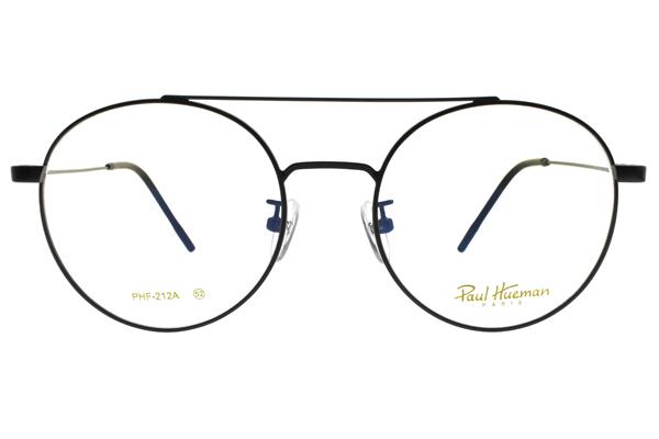 PAUL HUEMAN 光學眼鏡 PHF212A C05 (黑) 復古造型圓框款 眼鏡框 #金橘眼鏡