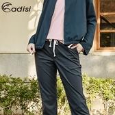 ADISI 女supplex平紋彈性透氣快乾休閒抽繩裸踝褲AP1911045 (S-2XL) / 城市綠洲 (輕量、吸濕、UPF40+)