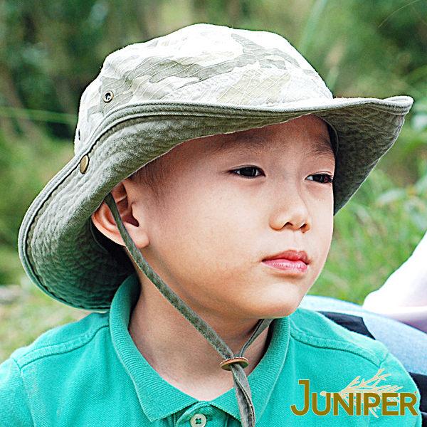 遮陽童帽子-抗UV紫外線防曬叢林漁夫防潑水遮陽親子兒童帽J7887C JUNIPER