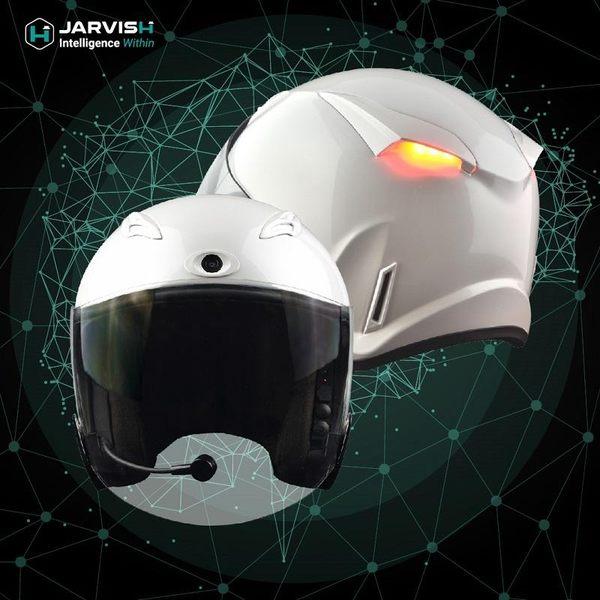 JARVISH Flash F1 智慧安全帽 機車行車紀錄器 白色 神腦公司貨