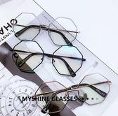 眼鏡 復古 韓版 大框不規則眼鏡架 【KS0419】★Magicman★預購