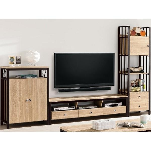 電視櫃 QW-349-2 鋼尼爾10.7尺客廳組合櫃【大眾家居舘】