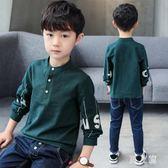 男童長袖T恤秋裝季新款韓版上衣POLO小孩衣服潮 zm7940『男人範』