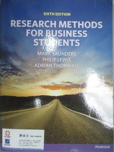 【書寶二手書T3/大學商學_IMM】Research Methods for Business Students_Sau