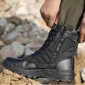 登山鞋 春秋高筒軍靴特種兵07作戰靴戰術靴男女戶外登山靴軍鞋透氣陸戰靴