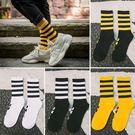 長襪男女潮牌歐美街頭嘻哈個性潮襪子條紋款原宿學院風中筒籃球襪錢夫人小鋪