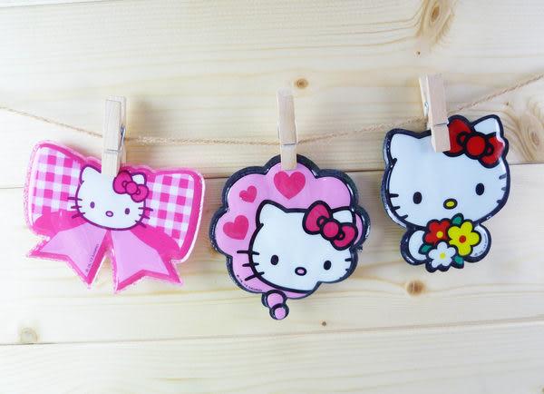 【震撼精品百貨】Hello Kitty 凱蒂貓~髮貼 粉蝶結/粉愛心/拿花【共3款】