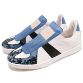 Royal Elastics 休閒鞋 Smooth 白 藍 高質感皮革鞋面 無鞋帶設計 橡膠大底 男鞋【PUMP306】 01583059