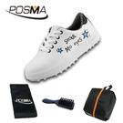 高爾夫球鞋 兒童運動鞋子男女童印花防水透氣球鞋 GSH126WBLU