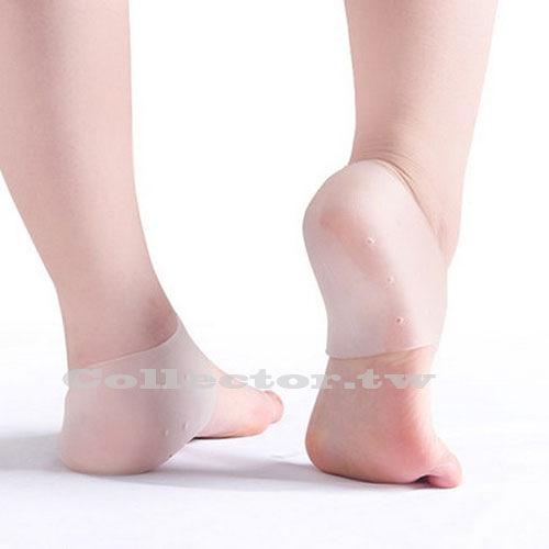 【超取299免運】矽膠後腳跟保護套 柔軟足步保養 防龜裂乾裂 保濕 凝膠套( 1對)