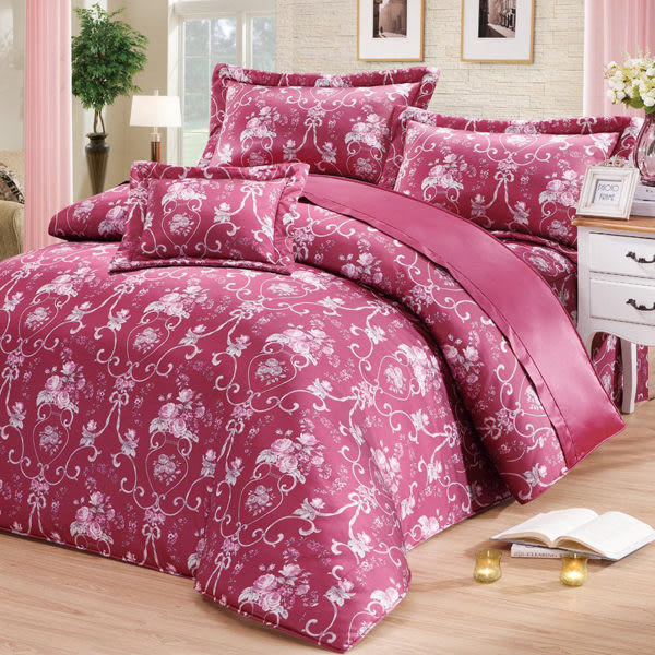 【VH.POLO】宮廷花棗P-1010雙人 五件式床罩組 5x6.2尺