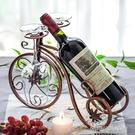 紅酒架擺件歐式酒瓶杯架家用客廳現代簡約紅酒架裝飾套裝葡萄酒架 【優樂美】