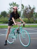 死飛自行車公路賽車活飛單車倒剎車實心胎成人男女學生熒光整車DI