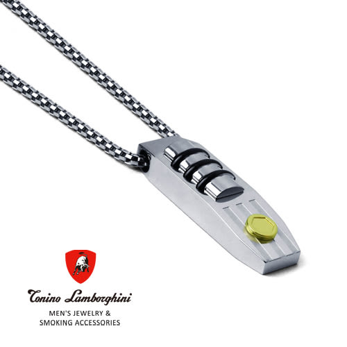 義大利 藍寶堅尼精品 - STRADA Collection 白鋼項鍊 ★ Tonino Lamborghini 原廠進口 時尚必備行頭 ★