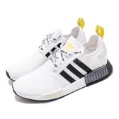 adidas 休閒鞋 NMD_R1 白 黃 黑 男鞋 運動鞋 襪套式 【PUMP306】 FV2549