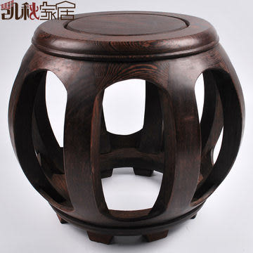 【大】中式古典家具多用途實木圓凳