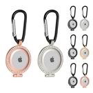 [2美國直購] Orzero 鋁製鑰匙環 2入 水鑽框 適用Apple AirTag 黑銀/黑金/黑粉/粉銀/金銀