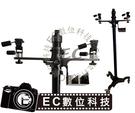 【EC數位】QH-J800-II 重型專業升降雙雲台立架 移動腳架 攝影腳架 三維雲台 DV 攝影機 採訪 婚攝