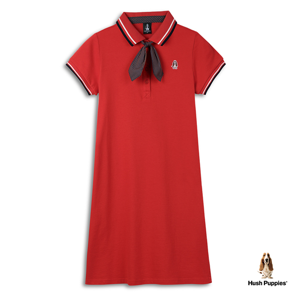 Hush Puppies 洋裝 女裝附領結polo領休閒洋裝